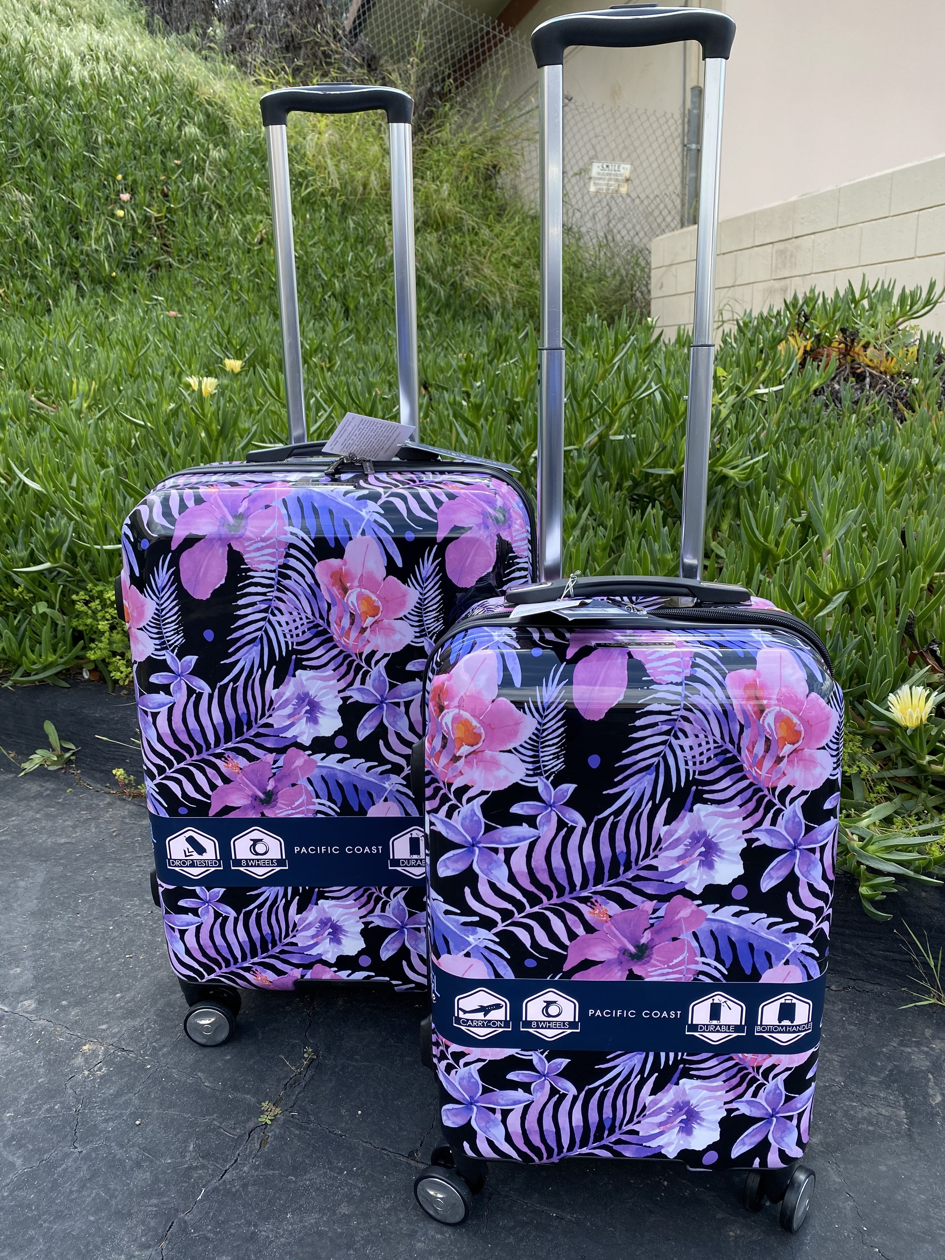 Pacific Coast 2-Piece Polycarbonate Tropical Hardside Luggage Set