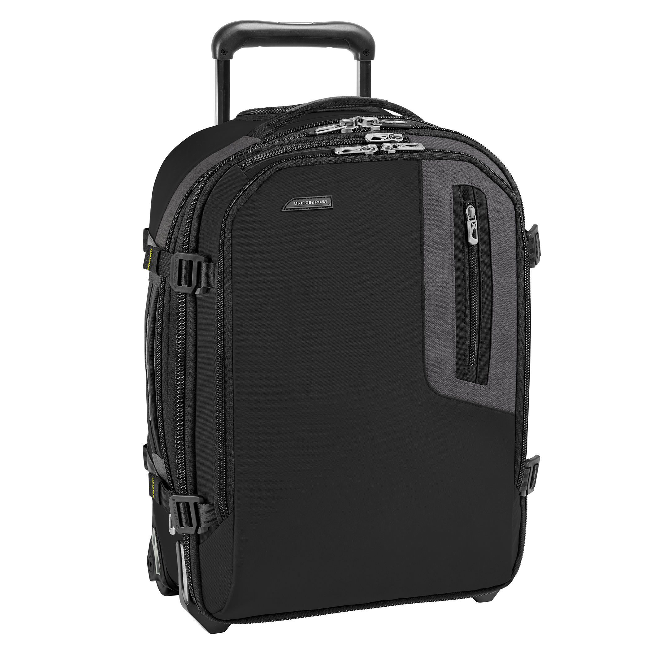 Briggs & Riley BRX BU220X-4 Explore Commuter Expandable Carry On Upright Black with LIFETIME WARRANTY